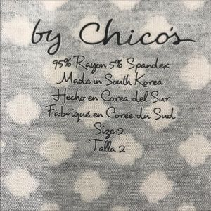 Chico's Tops - 🎈Chico's Black & White Long Sleeve Tee
